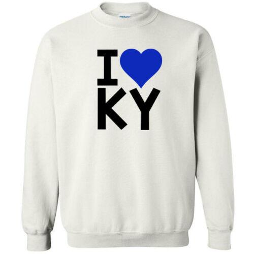 113 I Heart Ky Crew Sweatshirt bluegrass pride kentucky love cool wildcats home