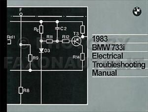 1983    BMW    733i Electrical Troubleshooting Manual 733 i    Wiring       Diagram    Schematics   eBay