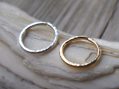 Hoop Earring Nose Septum Helix Piercing Cartilage daith Twisting Circle Fashion