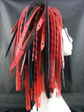 CYBERLOXSHOP REDWEB METALLIC CYBERLOX CYBER HAIR FALLS DREADS RAVE RED BLACK