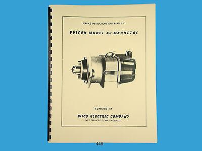 Edison Wico Service Parts Manual For AJ Magneto 446 EBay