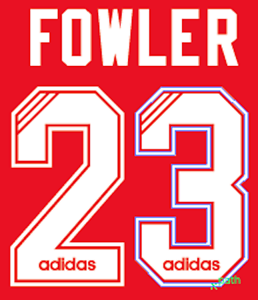 9b932036b64 Image is loading Liverpool-Fowler-Nameset-Shirt-Soccer-Number-Letter-Heat-