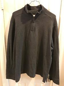 Mens-Merona-Sweater-Size-2XL-Gray-Zipper-Collar