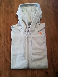 Details zu Adidas Kapuzenjacke Sweatjacke Jacke Sport Damen grau orange Trainingsjacke NEU