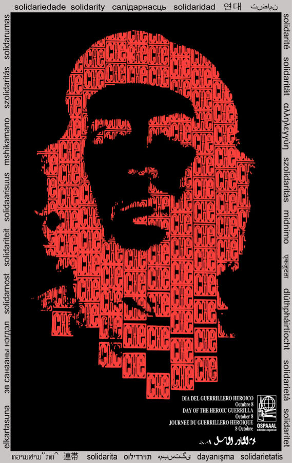 Solidarity POSTER quality print.Che Guevara rot.Political design decor.q891