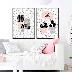Flower-Cactus-Decor-Art-Canvas-Posters-Prints-Nursery-Picture-Kids-Room-Decor