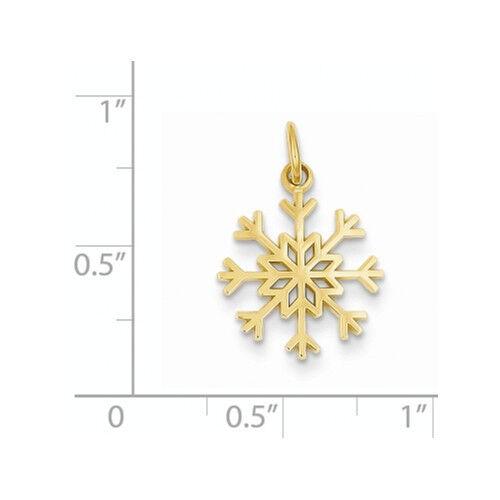 14k yellow gold snowflake pendant ebay aloadofball Images