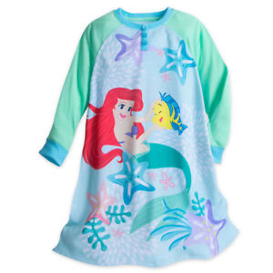 16a4963297 NWT Disney Store Ariel Nightshirt Little Mermaid Pjs Pajamas Gown 4 ...