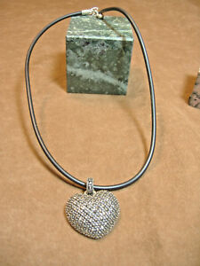 LARGE-VINTAGE-MARCASITE-HEART-PENDANT-ON-CORD