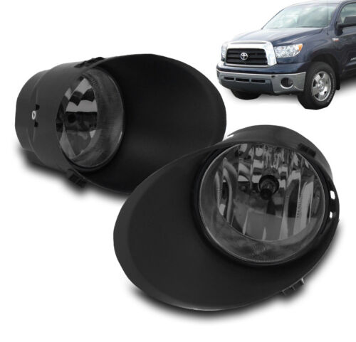 2007-2013 TOYOTA TUNDRA//2008-2011 SEQUOIA SMOKE BUMPER DRIVING FOG LIGHT+HARNESS