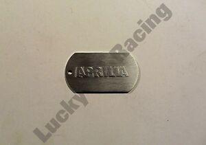 U-Tag-Aprilia-Brushed-Aluminium-Dogtag-key-ring-motor-bike-gift-RSV-1000-RS-125