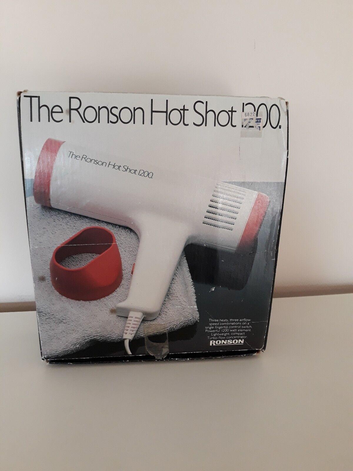 VINTAGE HAIR DRYER Ronson hot shot 1200 watt