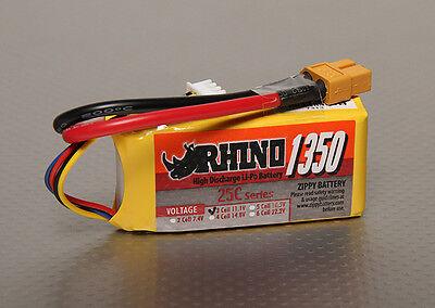 Rihno LiPo Akku 1350mAh 11,1V 3S 25C - 30C Mini Quad FPV Race 1300mah