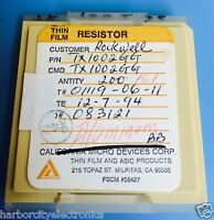 Tx1002gg California Micro Devices Resistor Thin Film Rockwell 161/units