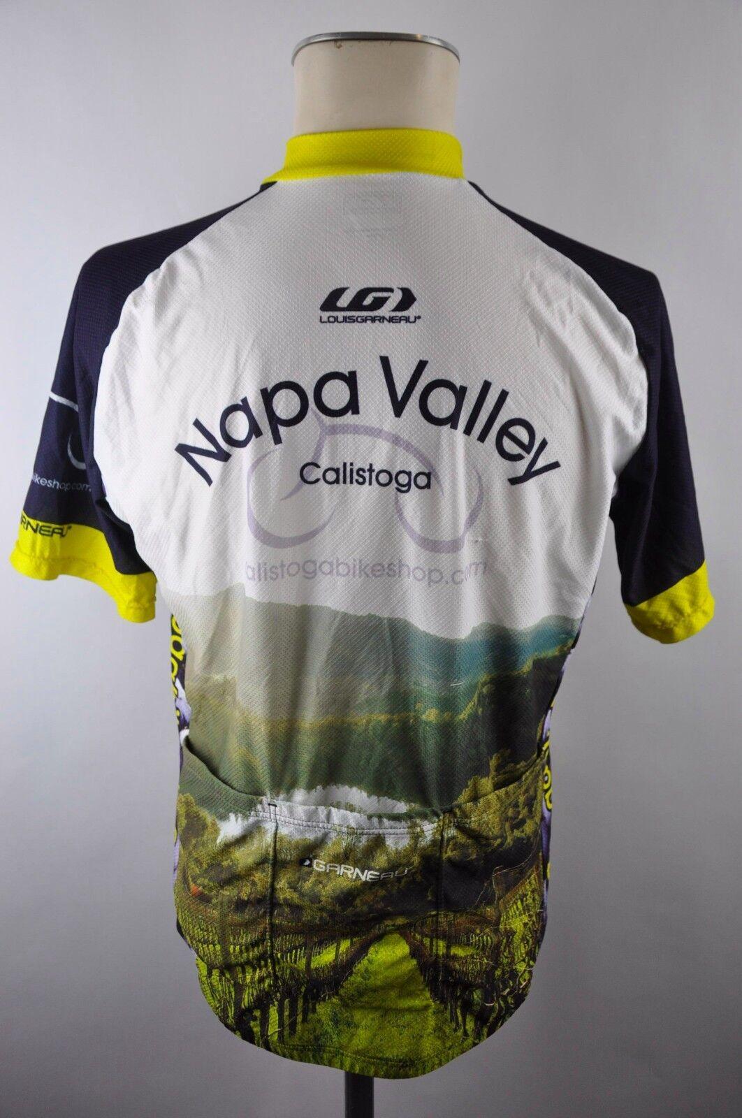 Louis Garneau Nappa Nappa Nappa Valley CYCLING JERSEY MAGLIA Ruota Maglia Taglia M 56m 21d dc1c7c