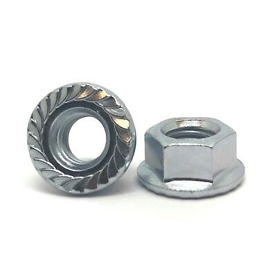 100 Metric Serrated Flange M12-1.75 Hex Lock Nuts Zinc Plated