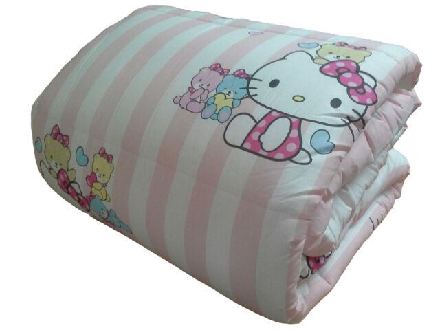 Piumone Hello Kitty 1 Piazza E Mezza.Trapunta Invernale Hello Kitty Little Friends Rosa Piumone 1 Piazza