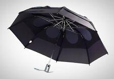Black GustBuster Heavy Duty 43in Automatic Wind Rain Compact Umbrella Steel