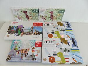 6x Kidsonroof Puzzle Game 3D Puzzle Totem Technika Ville De Ville Fox Chien Nouveau