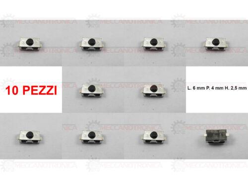 PULSANTE MICRO SWITCH CHIAVE TELECOMANDO FIAT ALFA  PEUGEOT CITROEN 2 PIN-10 PZ.