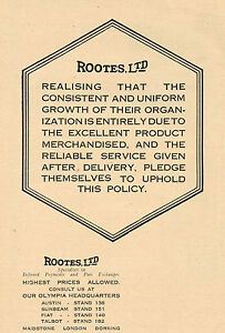 1923-Original-Vintage-Rootes-Group-Automobile-Car-Logo-Art-Print-Ad