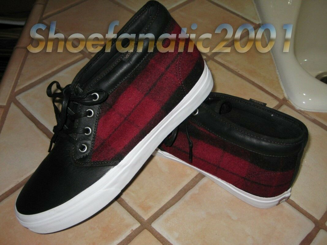 Vans Vault Chukka Boot Red Plaid Wool Lumberjack 10 Syndicate Taka Blends