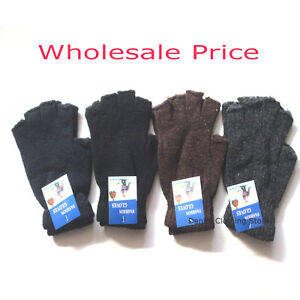 Wholesale Lot Dozen UNISEX MEN WOMEN MAGIC FINGERLESS WINTER WARM KNITTED GLOVE