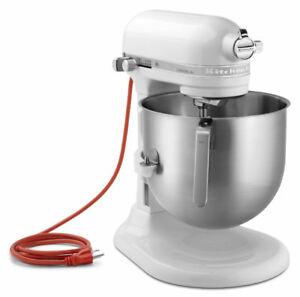 Kitchenaid Commercial 8 Quart Bowl Lift 500w Stand Mixer White Ksm8990wh