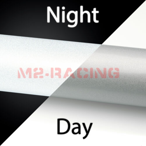"*12/""x48/"" Reflective White Vinyl Wrap Sticker Decal Graphic Sign Adhesive Film"