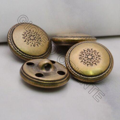 bottoni  in metallo 15 MM 6 pz colore BRONZO  per le tue creazioni  !!!