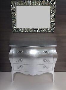 Comò bombato, foglia d\'argento con specchio | eBay