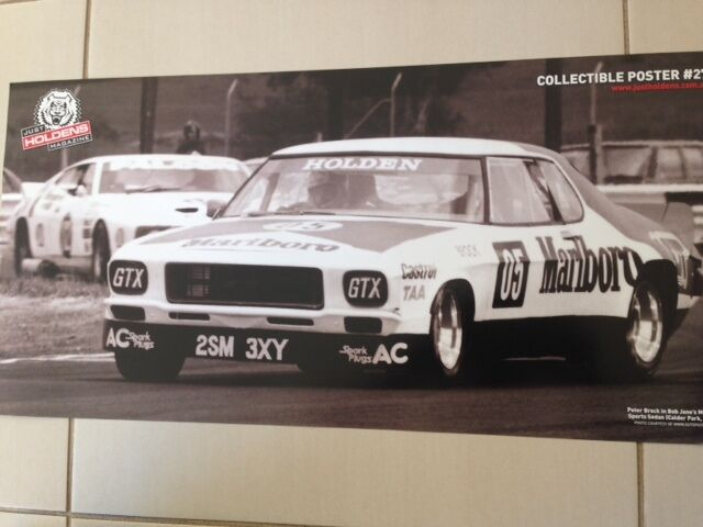 HOLDEN VINTAGE PETER BROCK MONARO RACING CAR POSTER-BIG 700MM BATHURST V8 race2