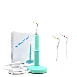 Dental-Endodontic-Cordless-Gutta-Percha-Obturation-System-Heating-Pen-2-X-Tips
