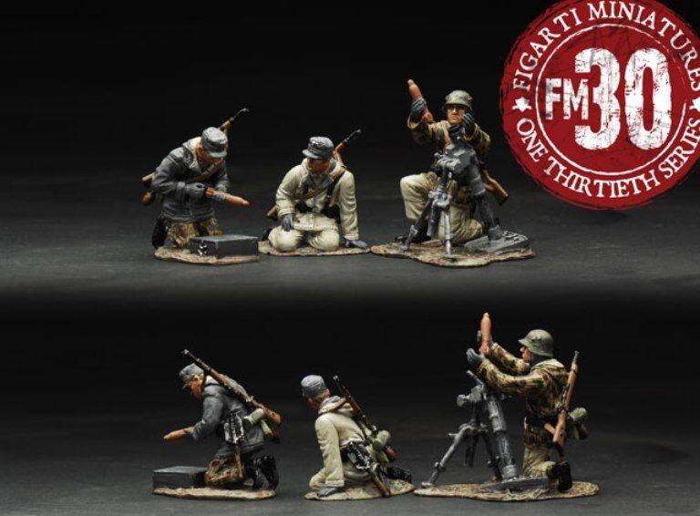 Figarti European Theatre WW2 TEDESCO etg-078 81mm Mortaio squadra Inverno