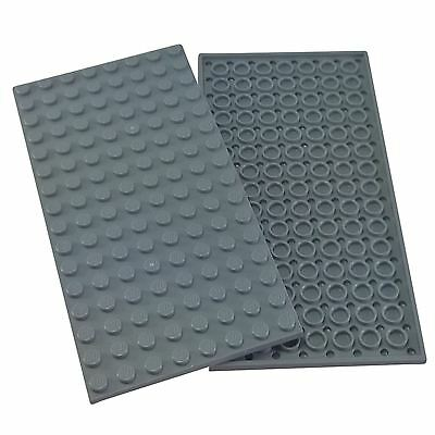 2 NEW LEGO Plate 8 x 16 BRICKS Light Bluish Gray
