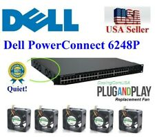 Pack of 2x new quiet version fans for Dell PowerConnect 7024P Low noise fans