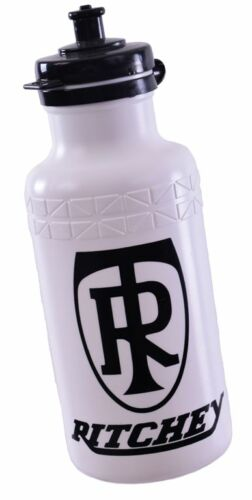 """""""RITCHEY"""" MTB//ANY BIKE WHITE PLASTIC CYCLING WATER BOTTLE WITH FLIP LID  50/% OFF"""
