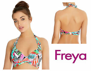 a955bf8d998 Freya Mardi Gras Halter Bikini Top 3780   Carnival Print   New Womens  Swimwear