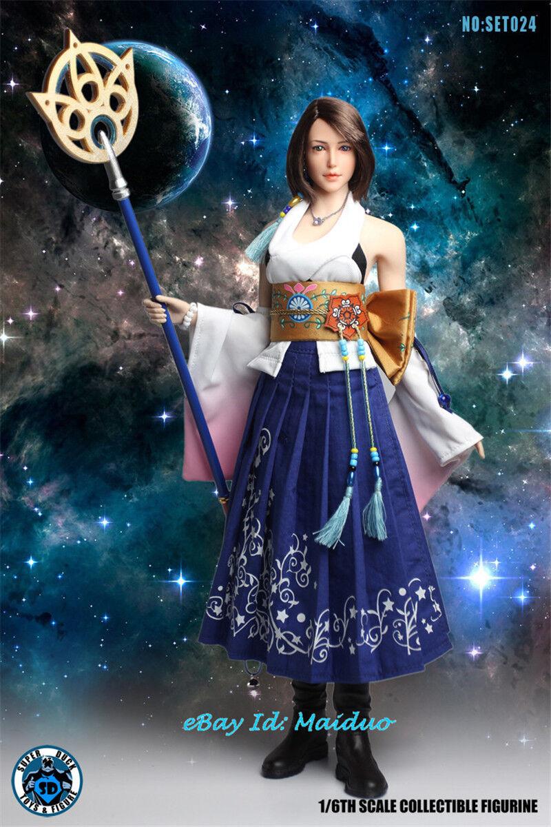 1 6 Final Fantasy Yuna Figura De Acción súper Pato SET024 De Colección Nuevo