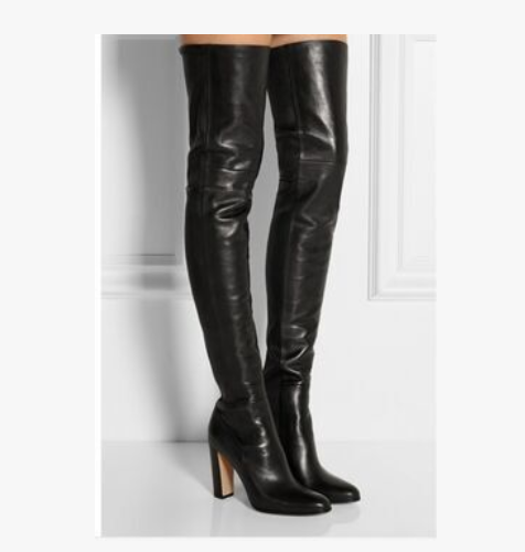 Donna Over Knee Thigh High Riding Stivali Sexy Block Heels Shoes Long Stivali Slim