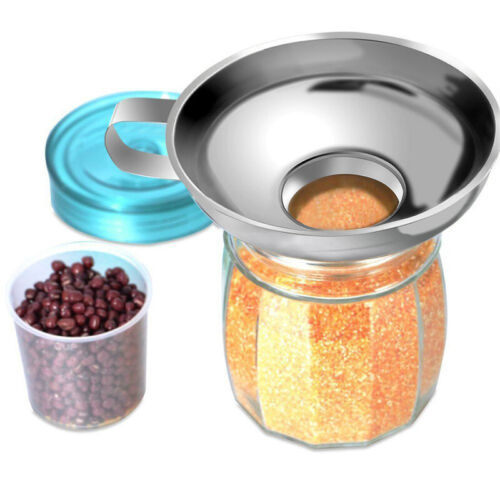 2 Pcs Set Funnel for Wide and Regular Jars Useful Stainless Steel Wide Mou M3Q4