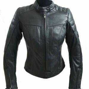 Nuova-giacca-giubbotto-moto-pelle-bovina-STUD-donna-protezioni-CE