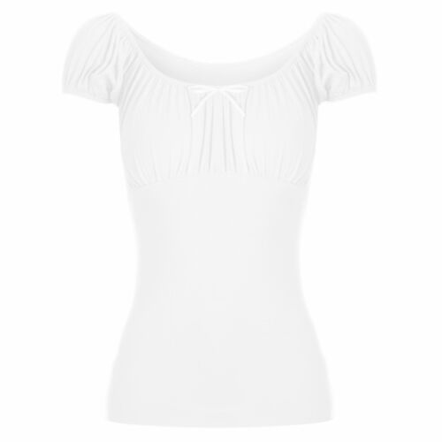 Ladies Womens Gypsy Bow Boho Knot Tie Ruched Off Shoulder T Shirt Vest Tee Top