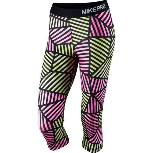 57c0963829 Nike Pro Core Web Fade Women's Compression Capri Tights 799096 Was Small  for sale online | eBay