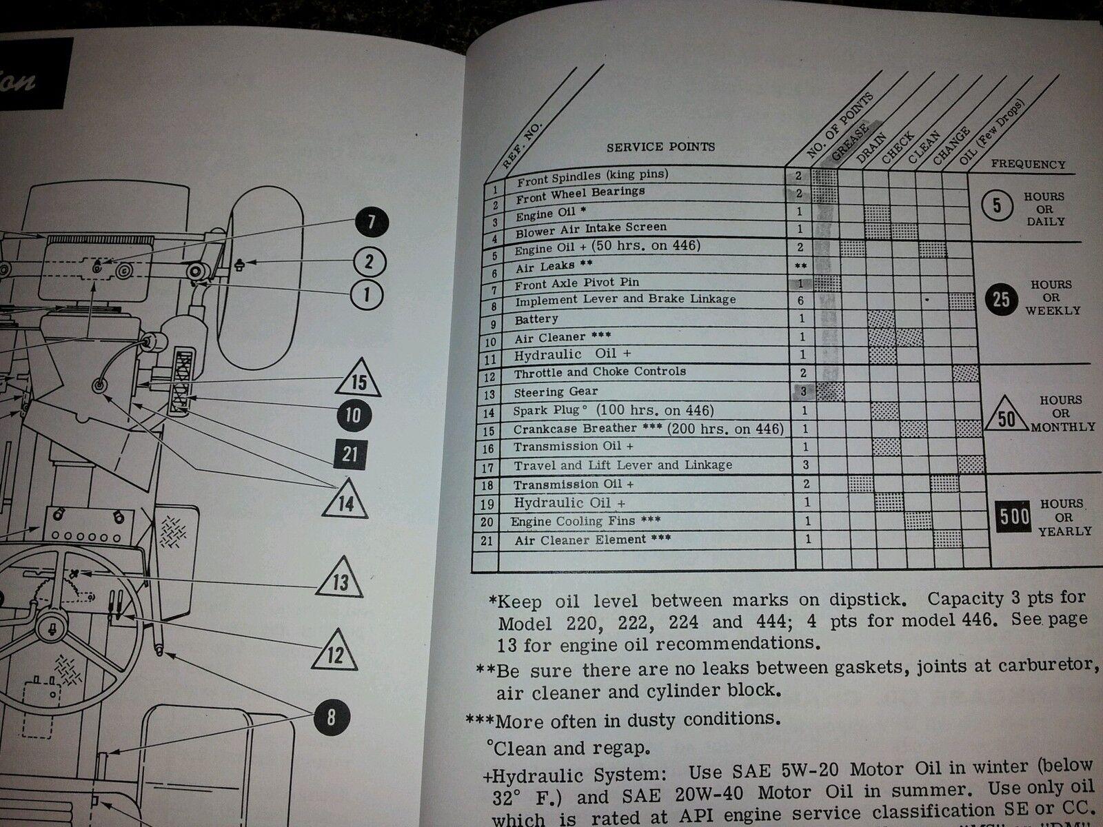 Case 220 222 224 444 446 Operators Manual Ebay Ingersoll Wiring Diagram