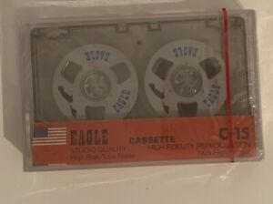 EAGLE-Cassette-Tape-NEW-Sealed-C-15-Reel-To-Reel-Studio-Quality-Metal-Rare
