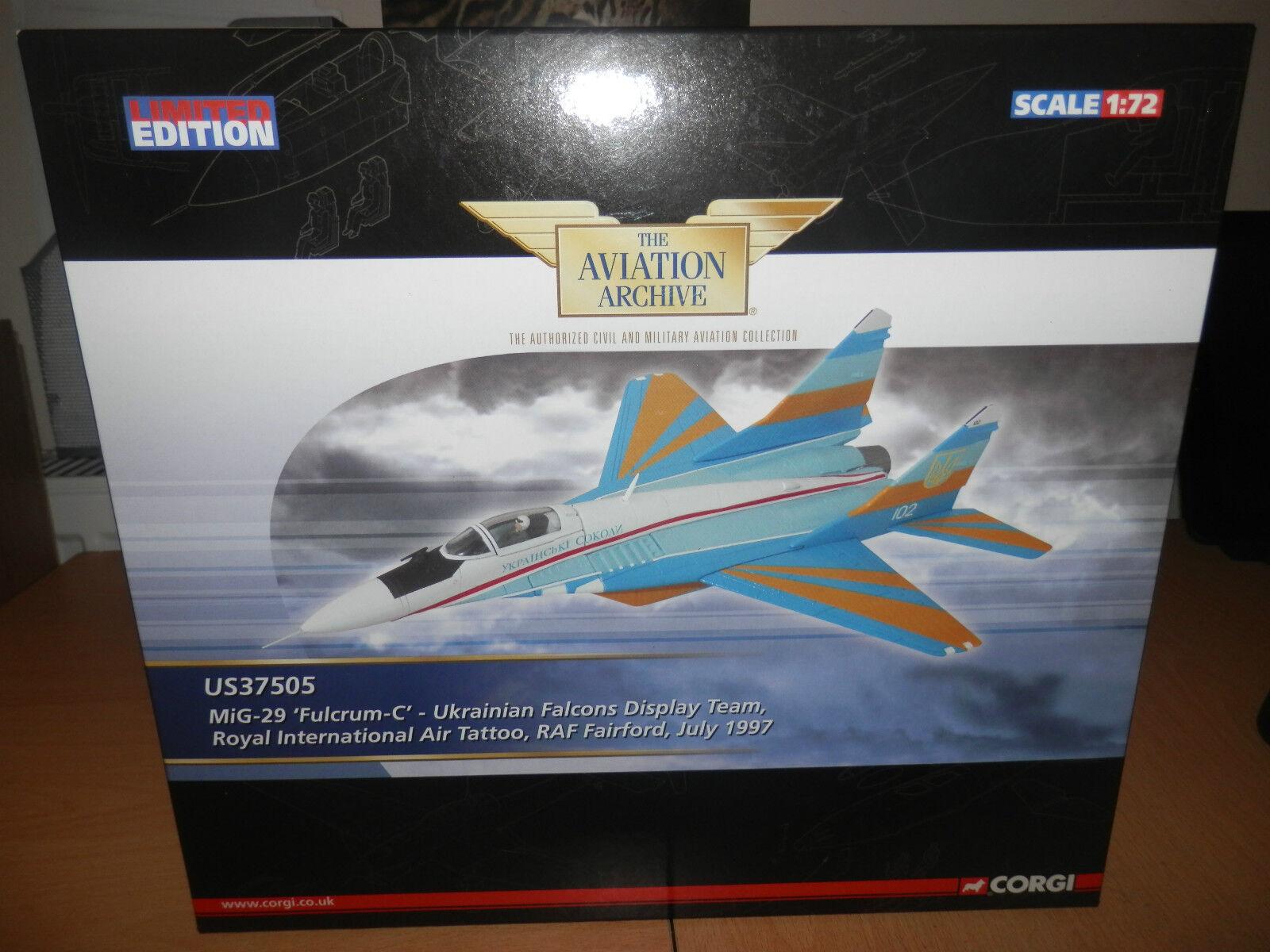 Corgi Corgi Corgi Aviation 1 72 MIG-29  FULCRUM C  ukrainien Display Team dbffae