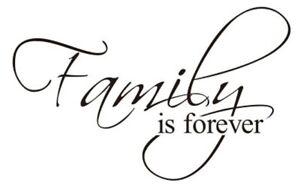 Spruch-Family-is-Forever-Wandtattoo-Wandsticker-Aufkleber-Zitat-Family-Sticker