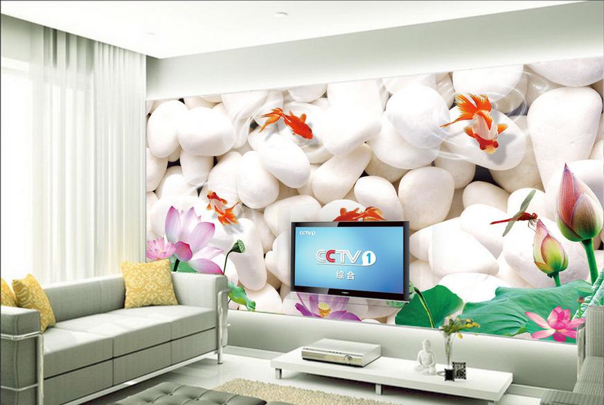 3D Weißer Stein Goldfisch 854 Tapete Wandgemälde Tapete Tapete Tapete Tapeten Bild Familie DE   Langfristiger Ruf    Clever und praktisch    Erschwinglich  19544f