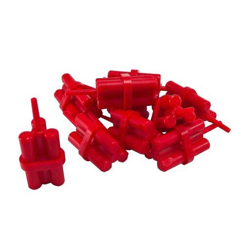 10 NEW LEGO Dynamite Sticks Bundle red